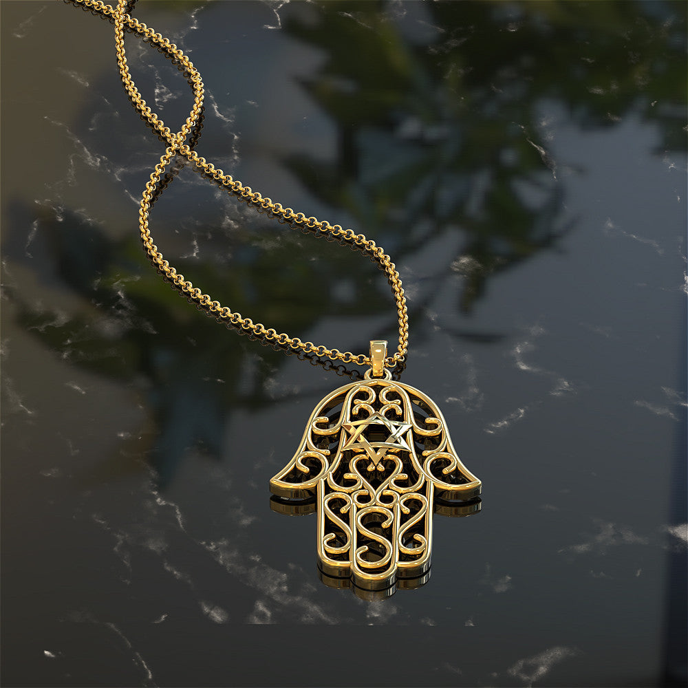Hamsa Star Necklace