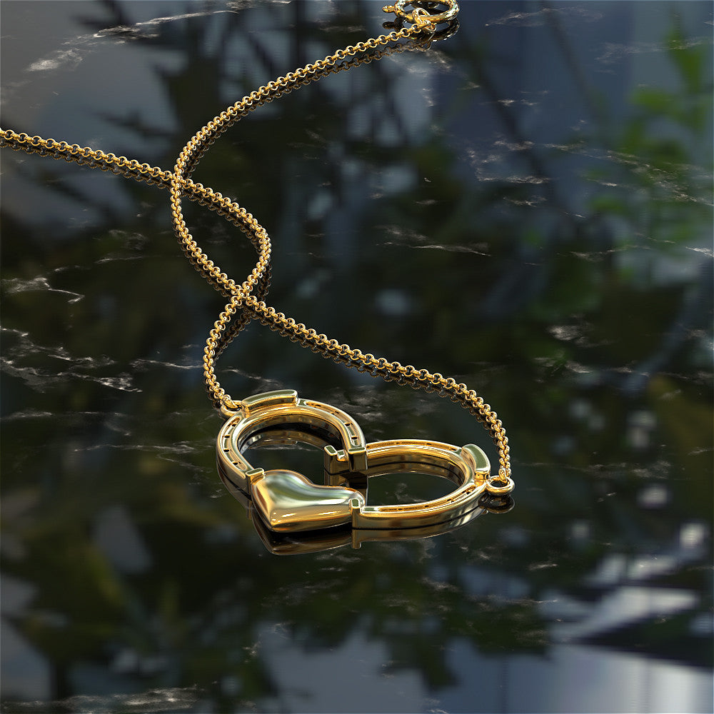 Football Heart Necklace