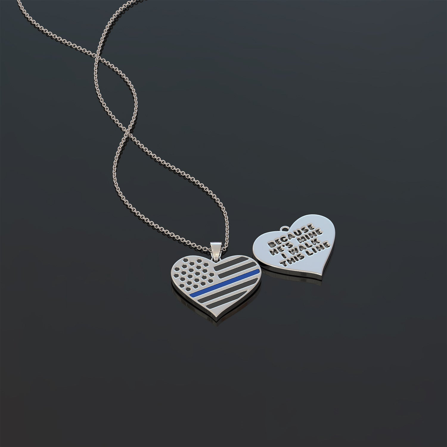 Because Hes Mine I Walk This Line Necklace