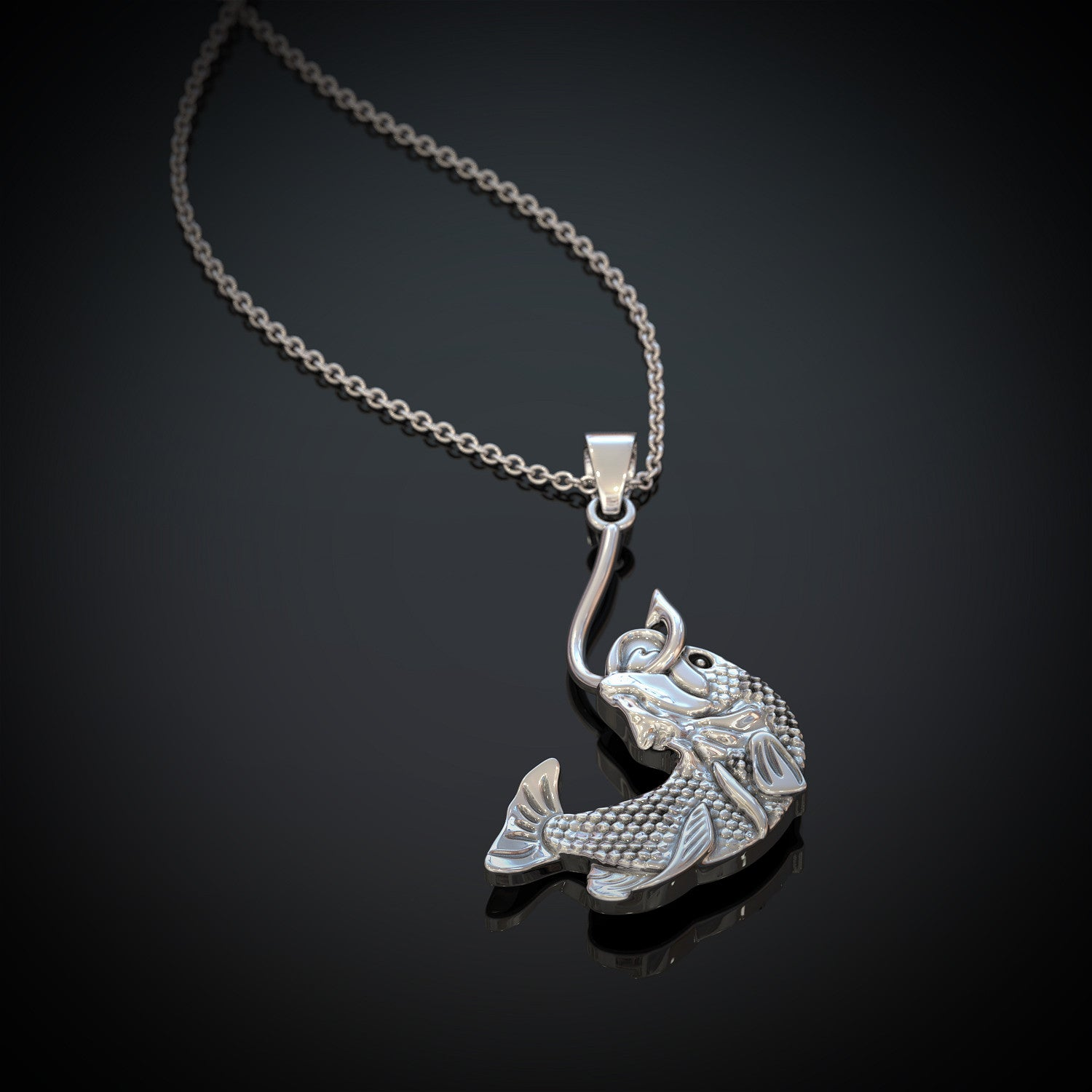 Fish on Hook Necklace - LIMITED EDITION