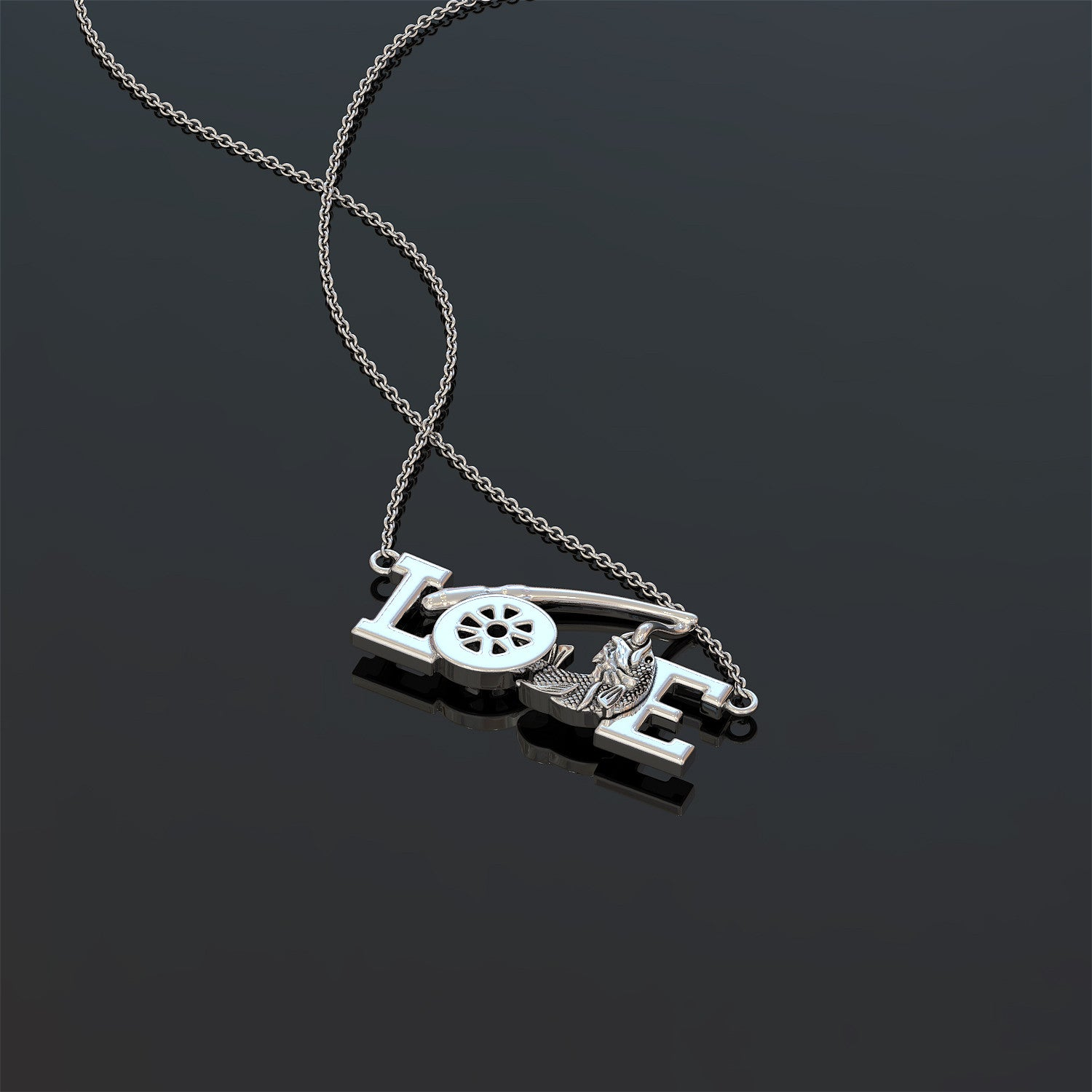 Love Fishing Necklace