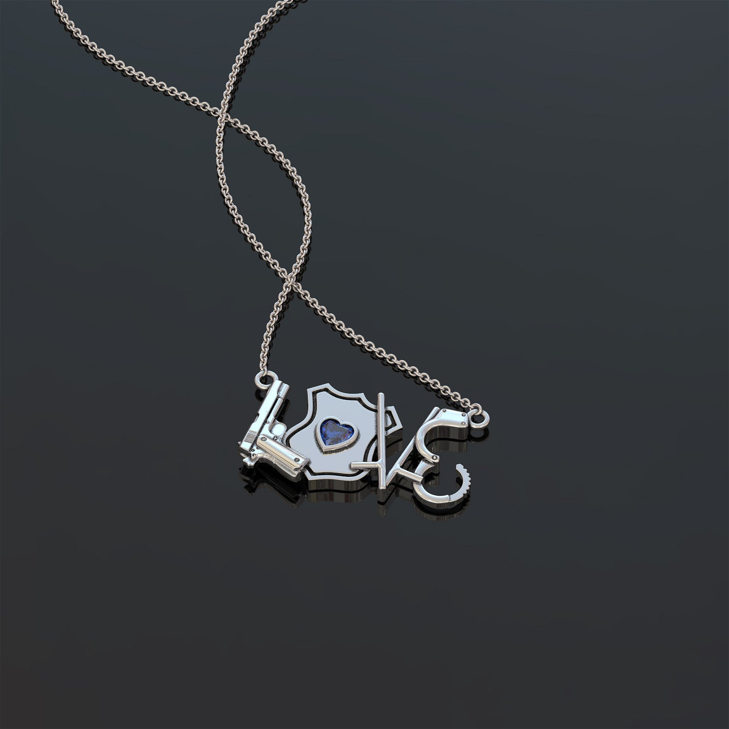 Police Love Necklace