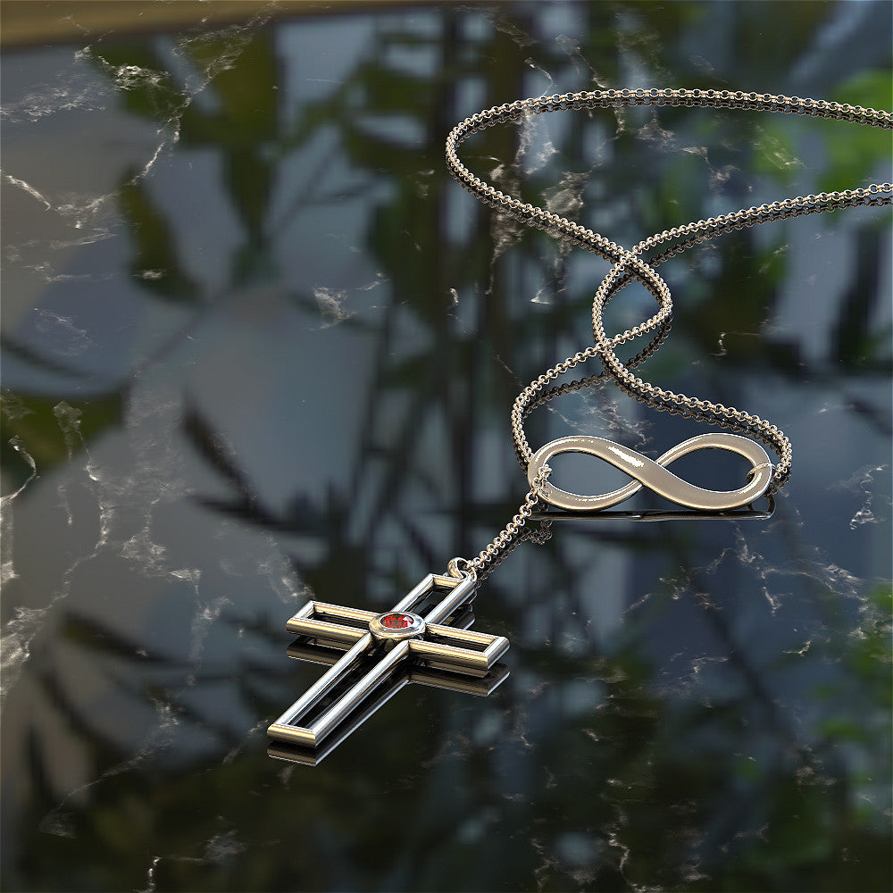Cross Infinity Necklace