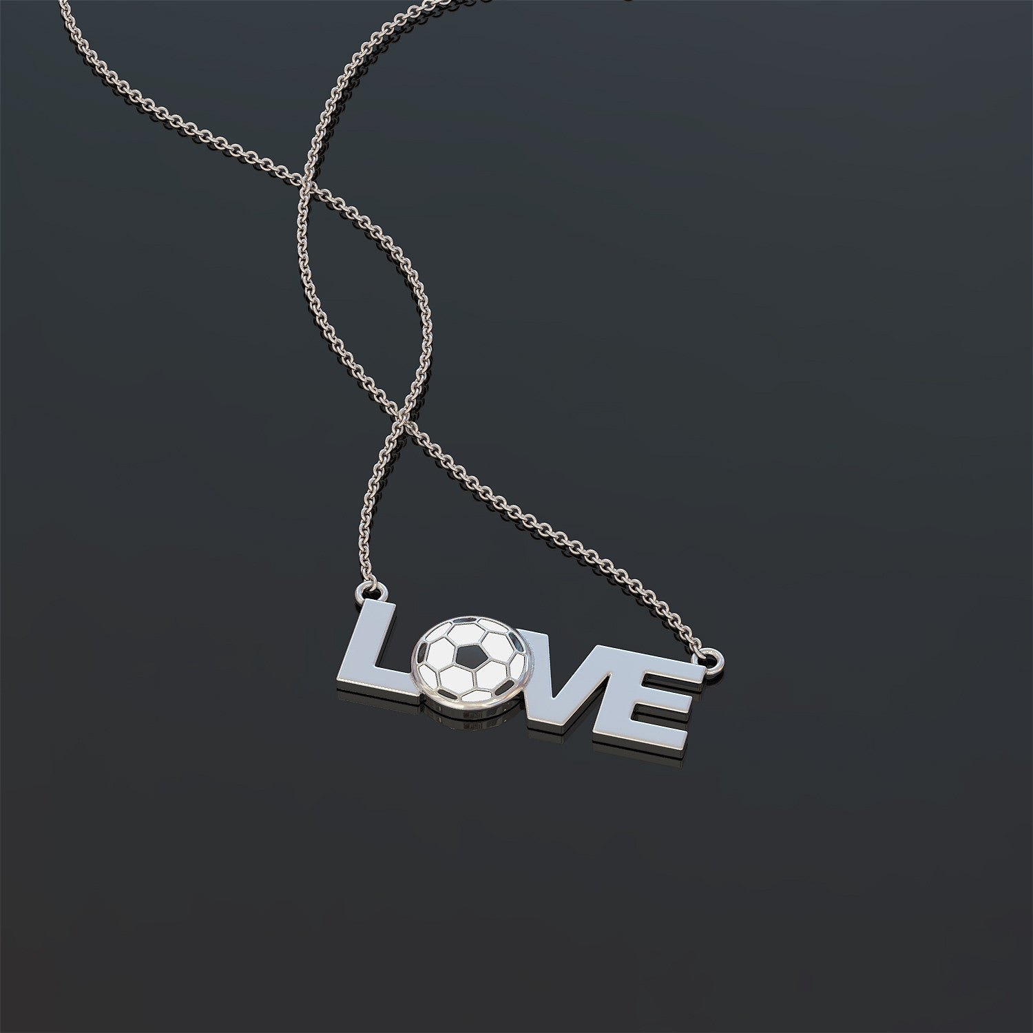 Love Soccer Necklace