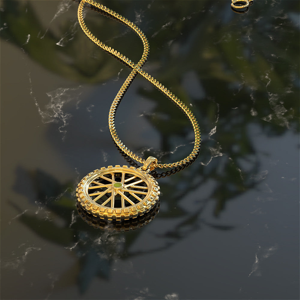 Dirt Bike Tire Necklace