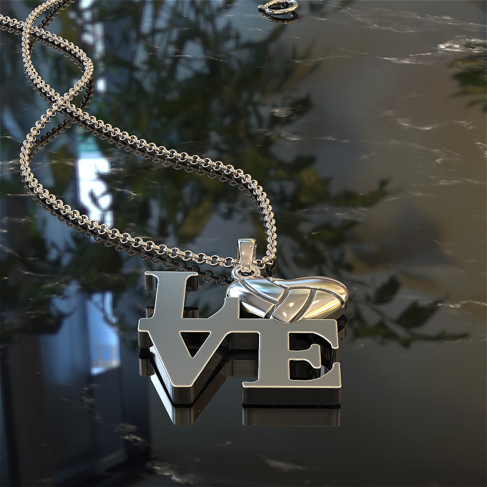 Love Volleyball Necklace