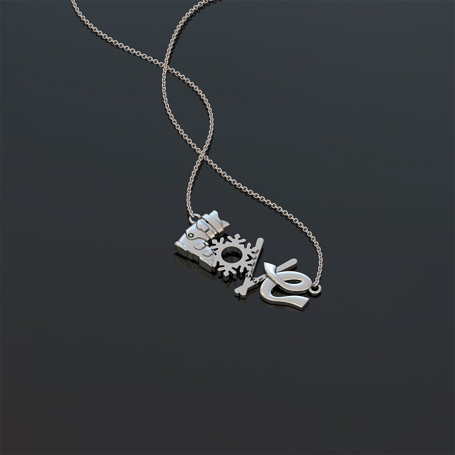 Love Skiing Necklace