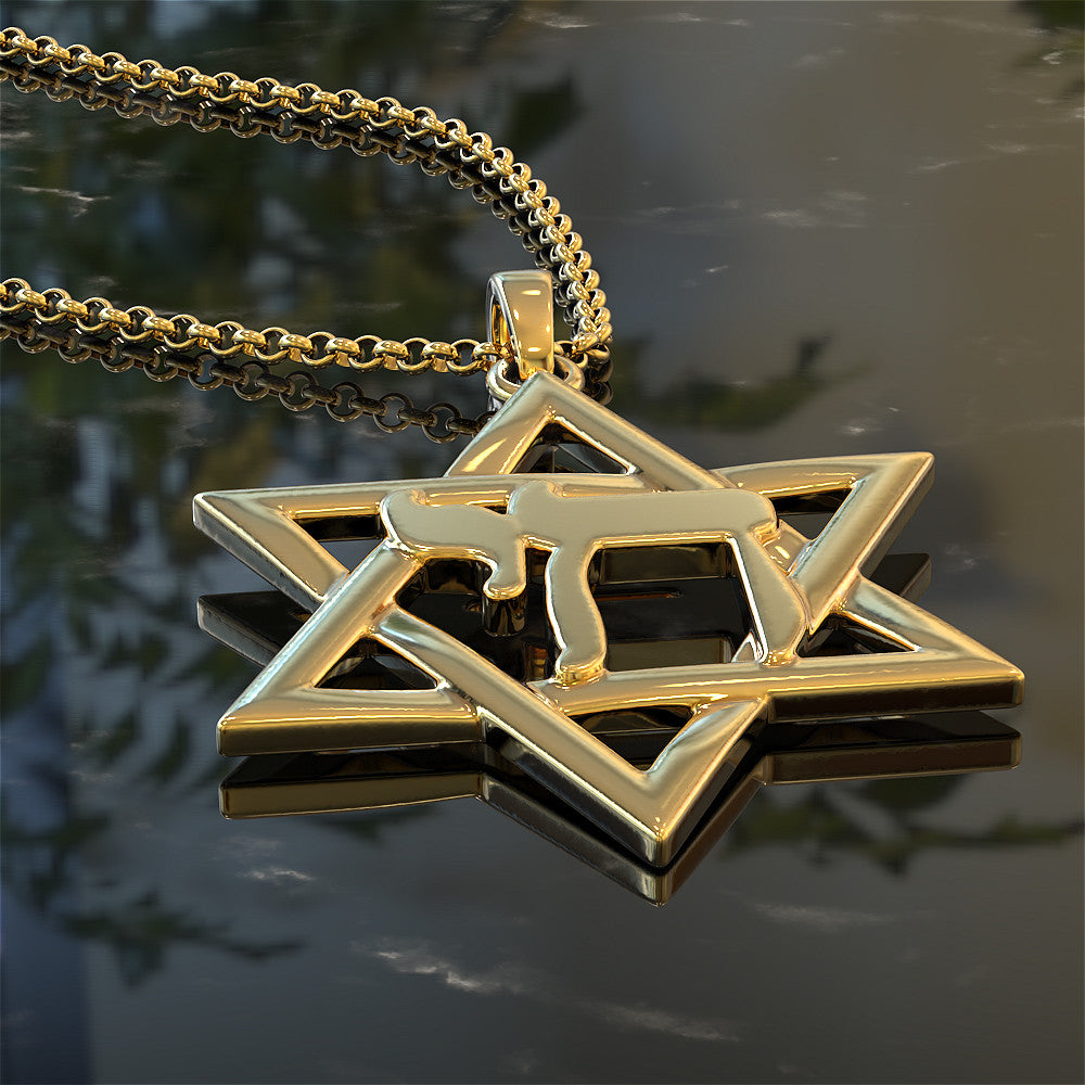 Star of David with Chai Symbol Necklace