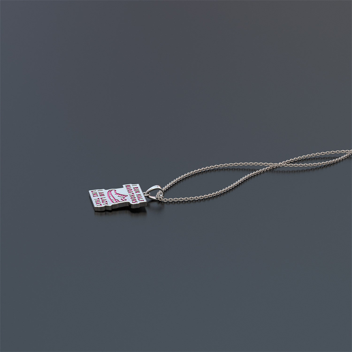 Half Marathon Runner Necklace