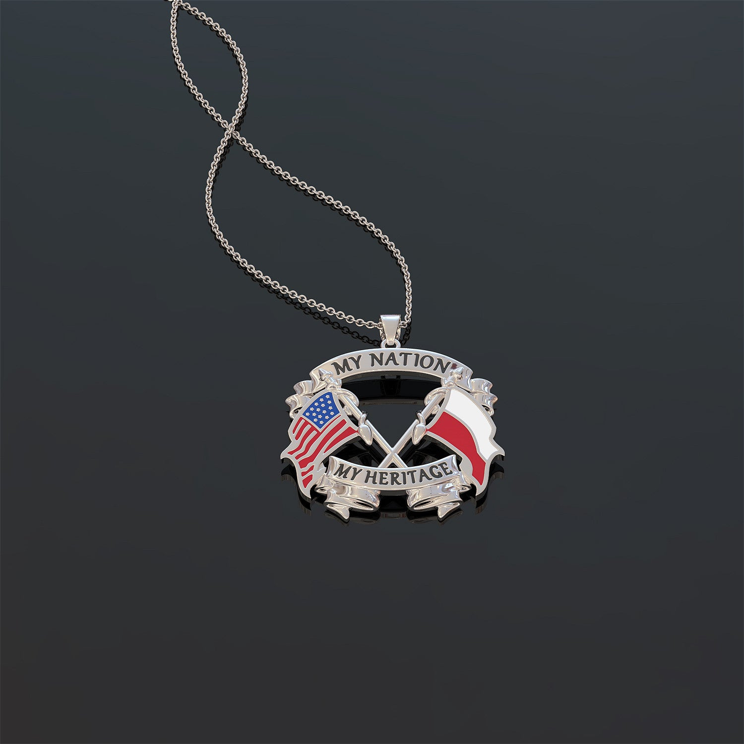 My Nation My Heritage Polish Necklace