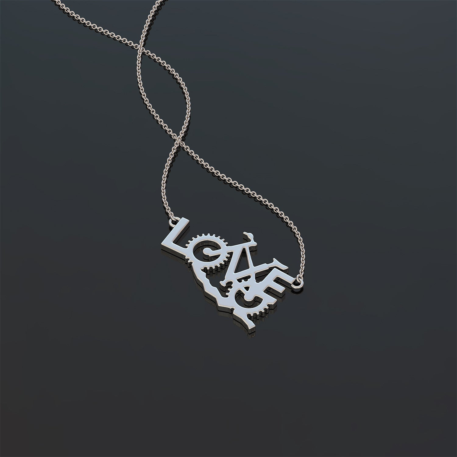 Love Biking Necklace