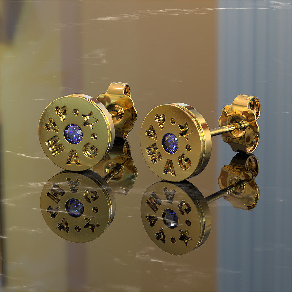 Women's Bullet Earrings