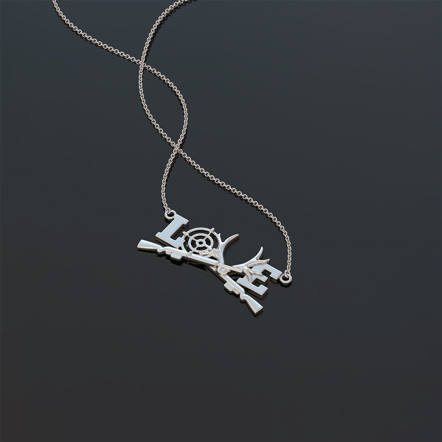 Love Hunting Necklace
