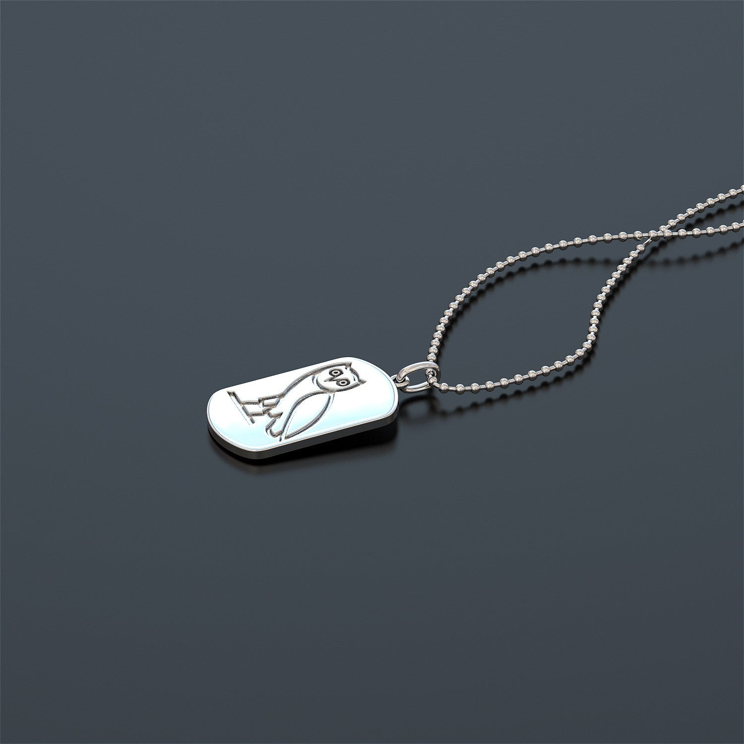 Owl Dogtag Necklace - VERY LIMITED NUMBERS