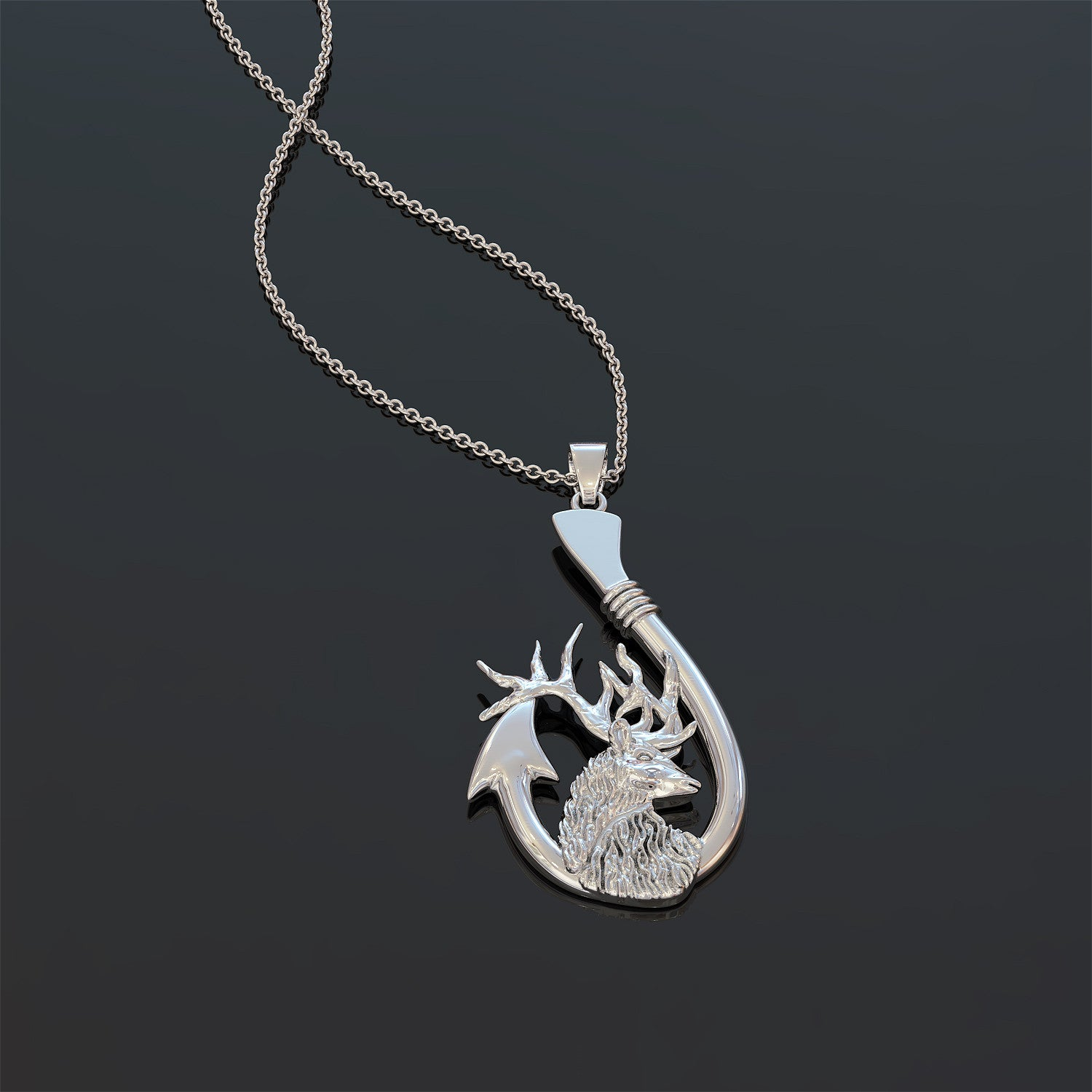 Born To Hunt And Fish - Pendant