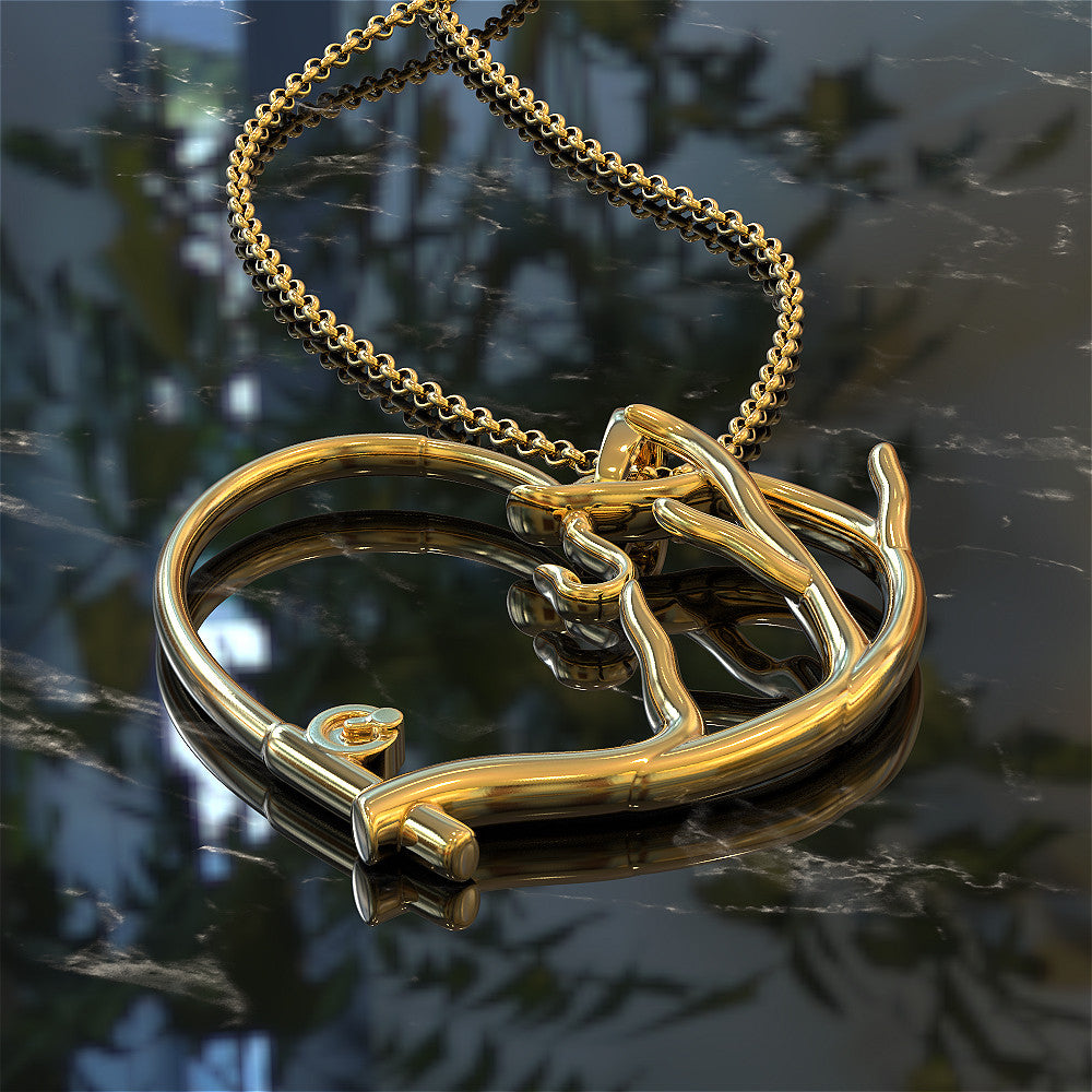 Fishing Antler Necklace