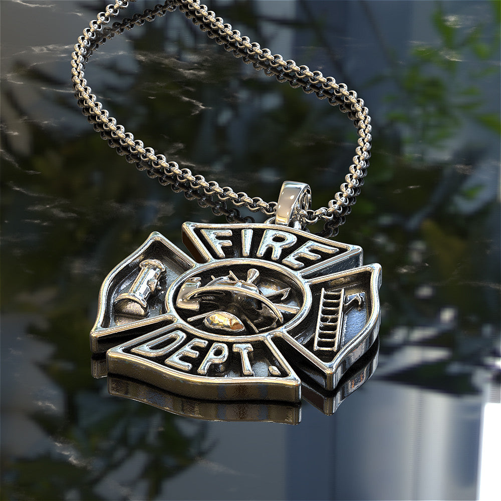 i fighter necklaces maltese split pendant firefighter firefighters cross support pin fire