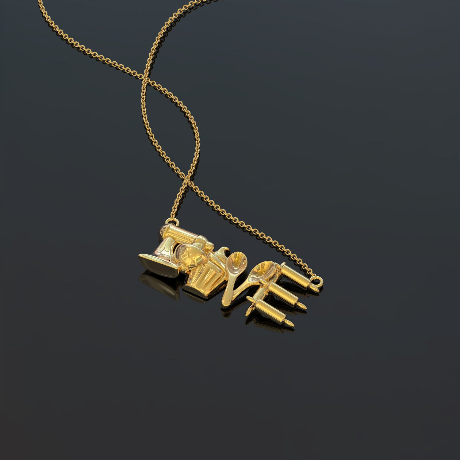 Love Baking Necklace