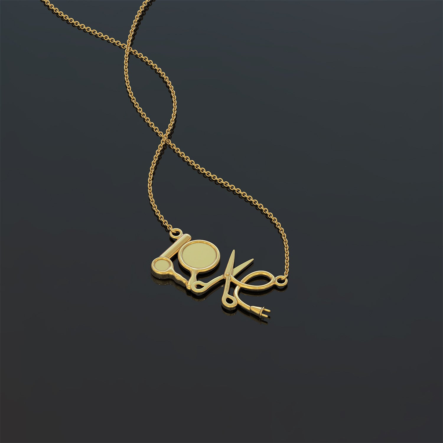 Love Hairstylist Necklace
