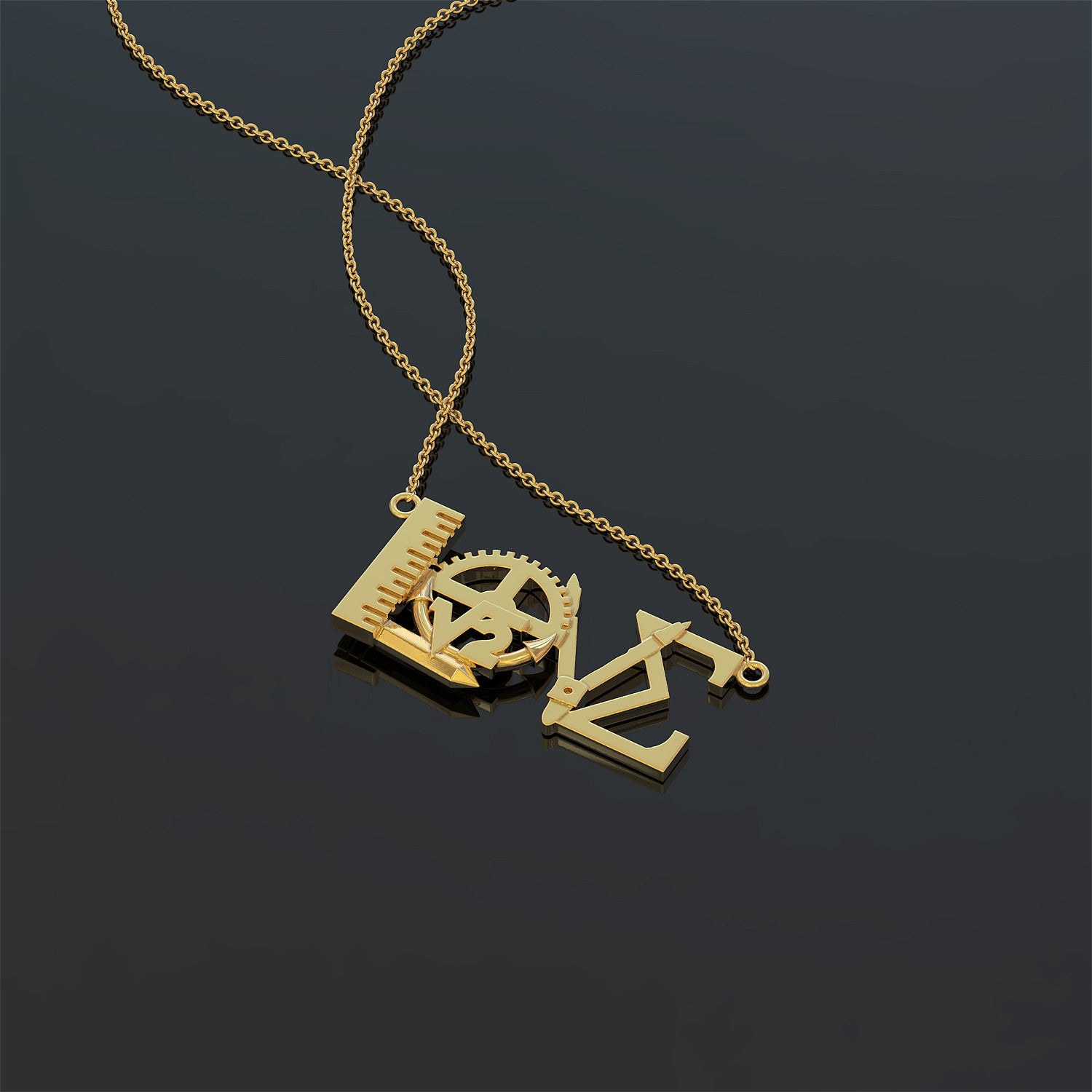 Math Love Necklace
