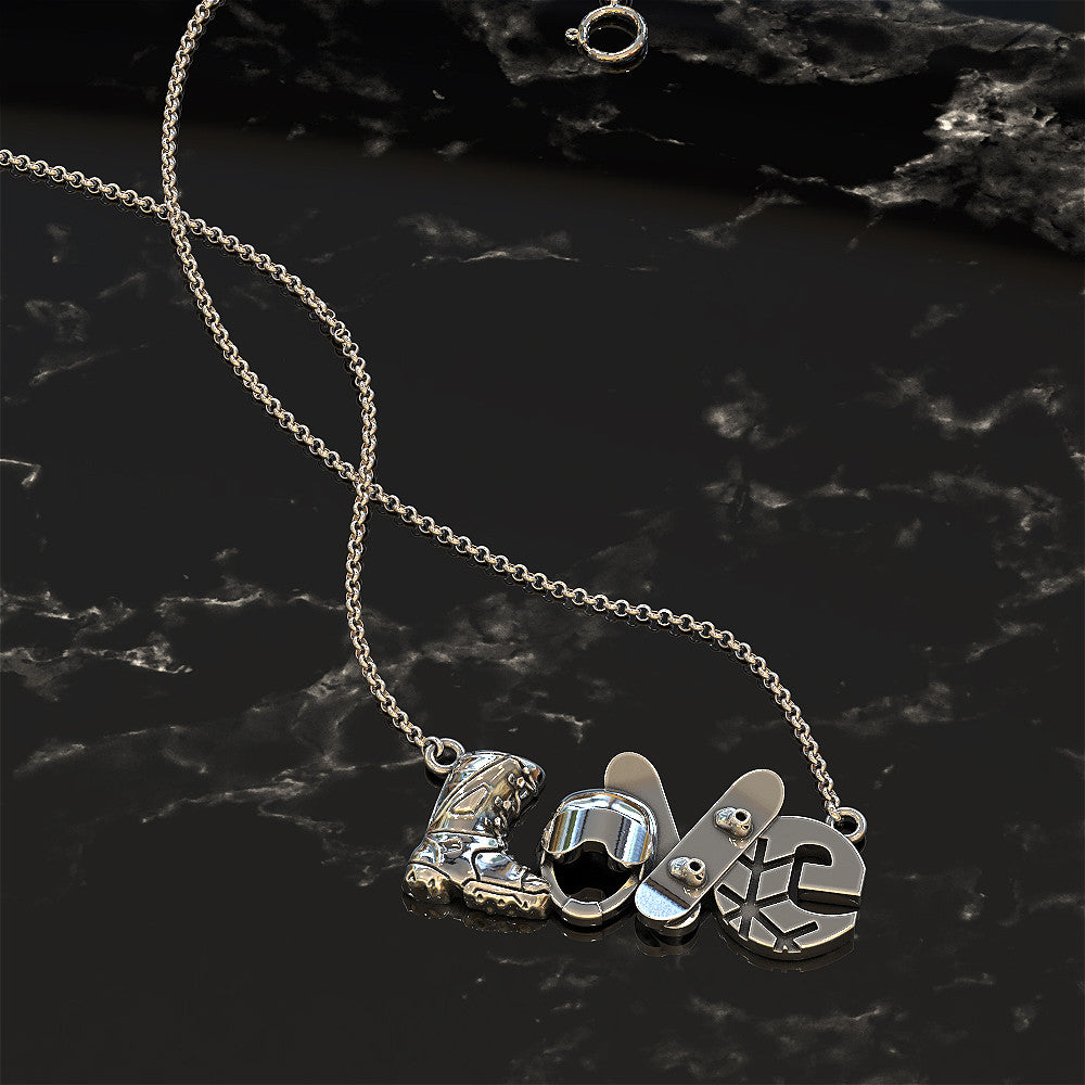 LOVE - Snowboard Pendant - STRICTLY LIMITED EDITION