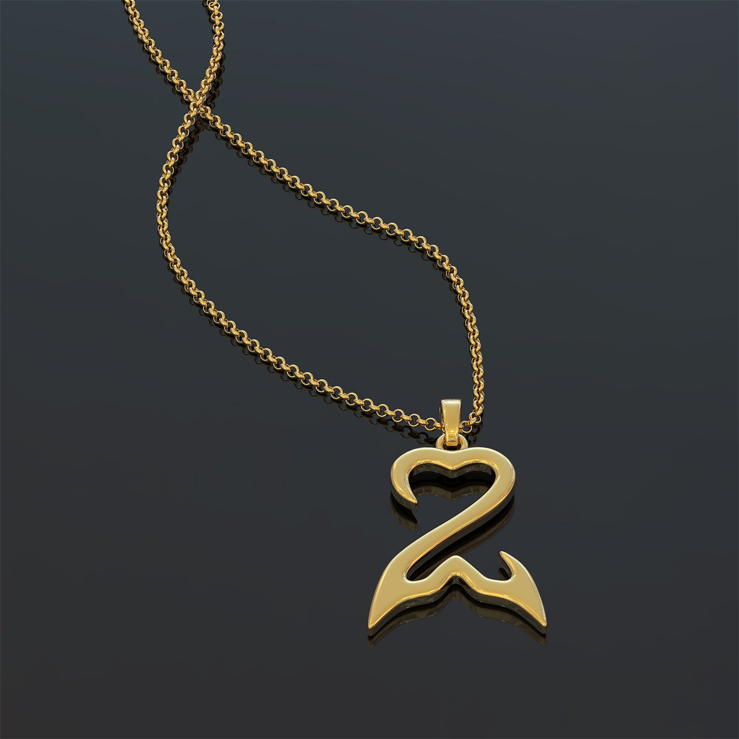 Mermaid Open Heart - Necklace