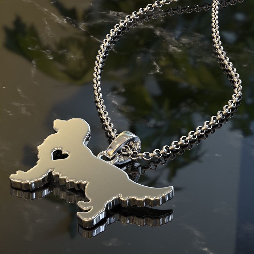 Golden Retriever Love Pendant