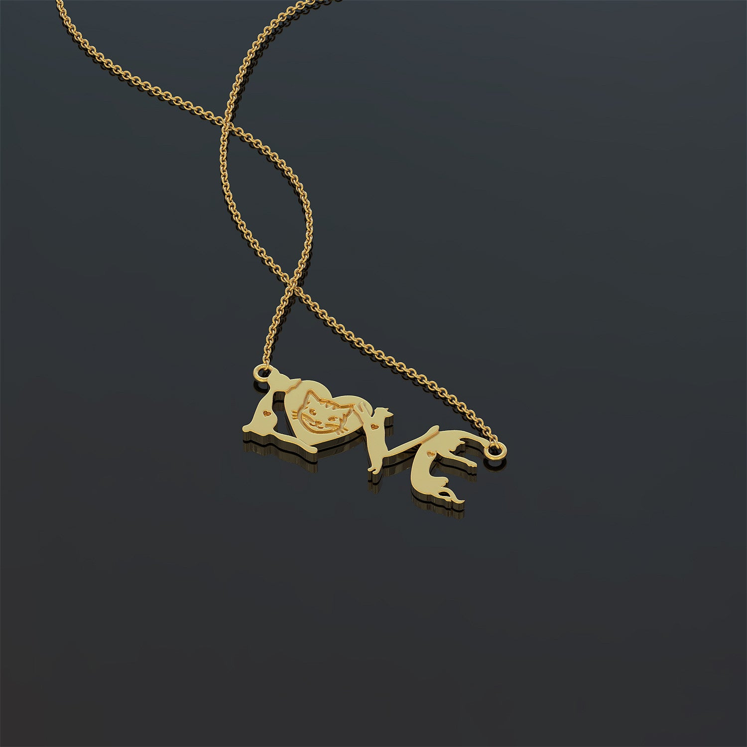 Cat Love Necklace