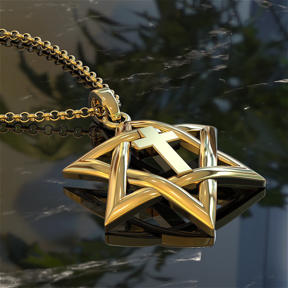 Star of David with Cross Pendant
