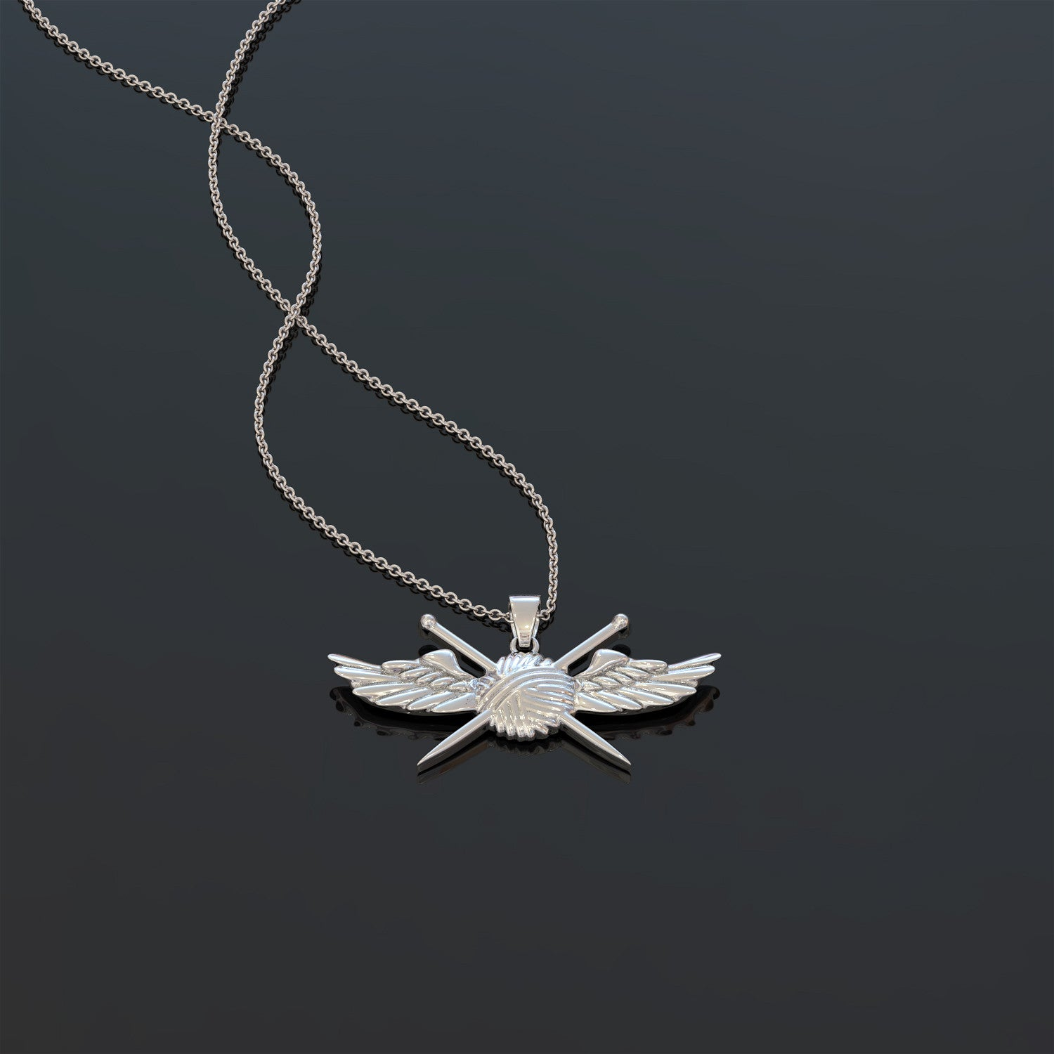 Knitting Angel Necklace