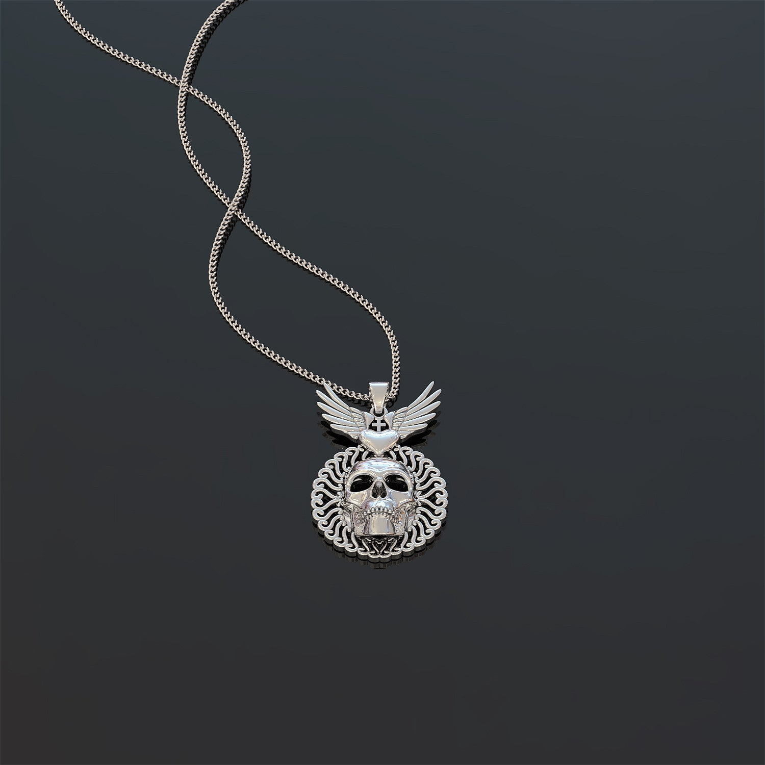 Eagle Skull Necklace