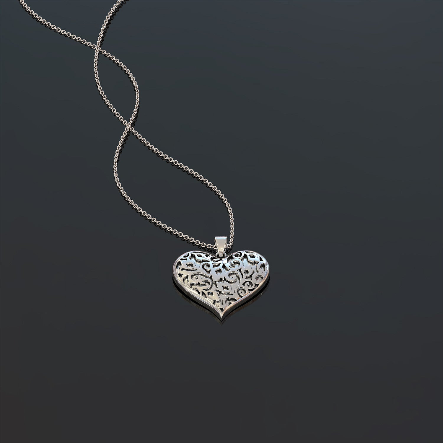 Vine Heart Necklace