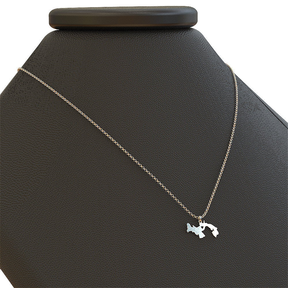 Panama Necklace - Sterling Silver Love Heart