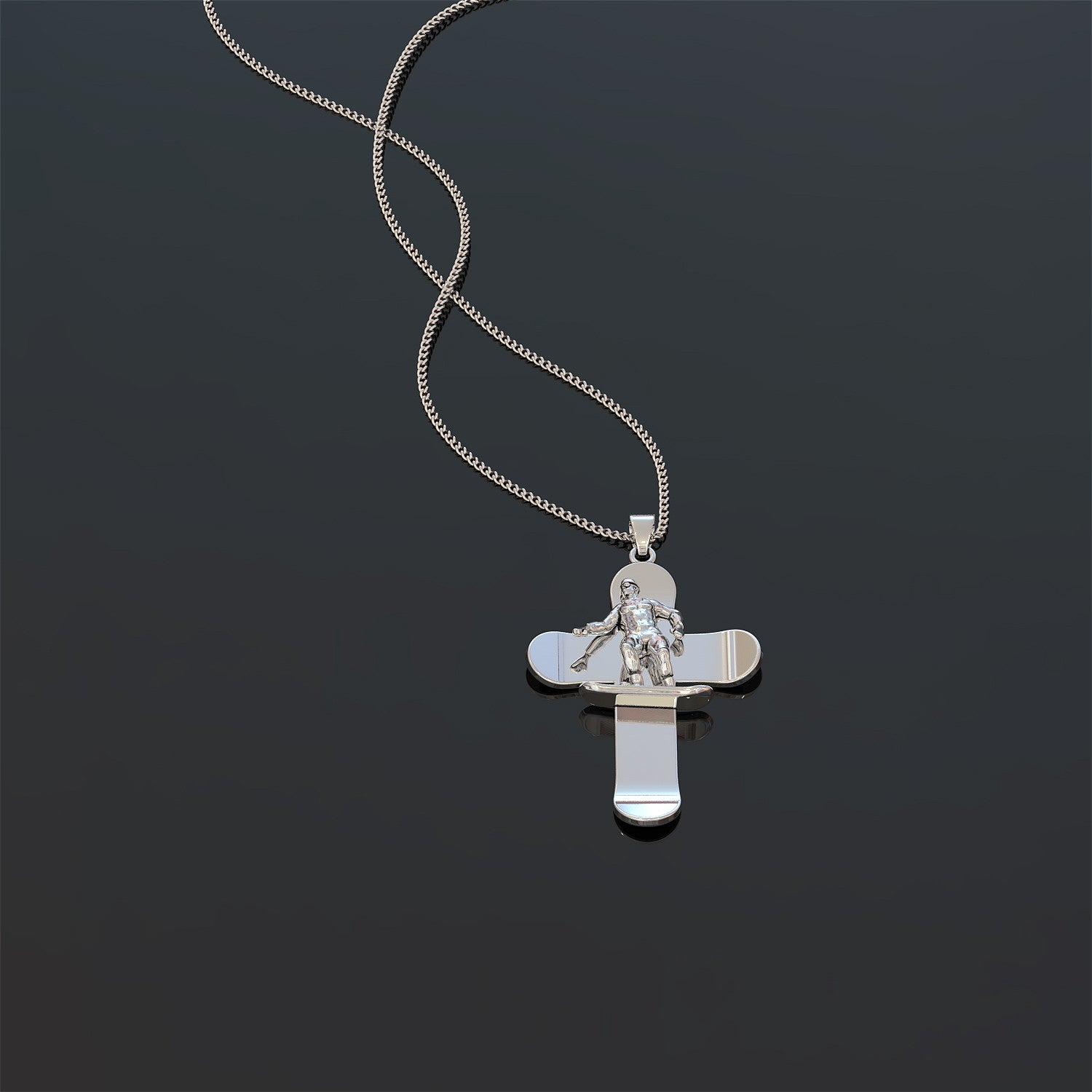 Snowboard Cross Necklace - LIMITED EDITION