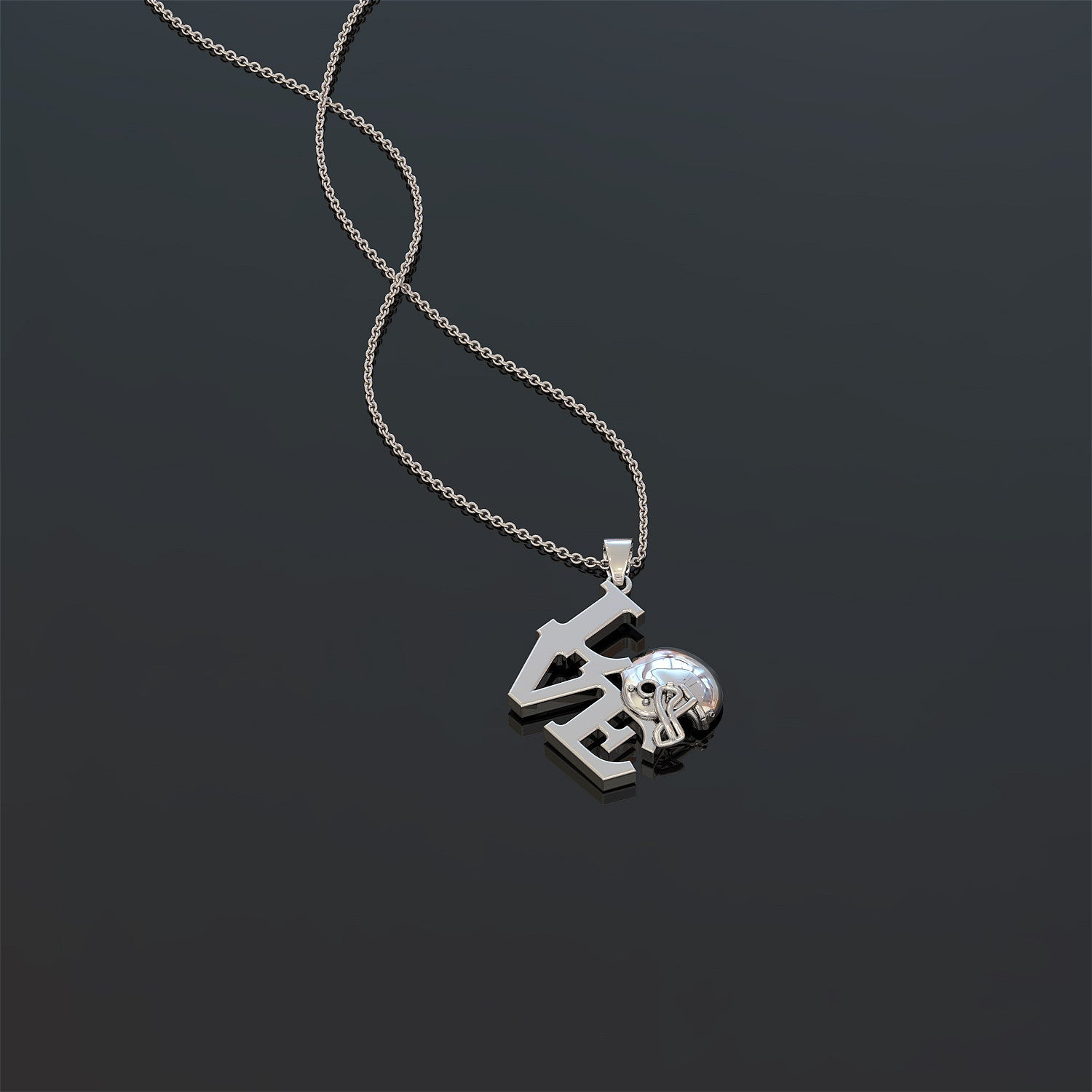 Football (American) Love Necklace