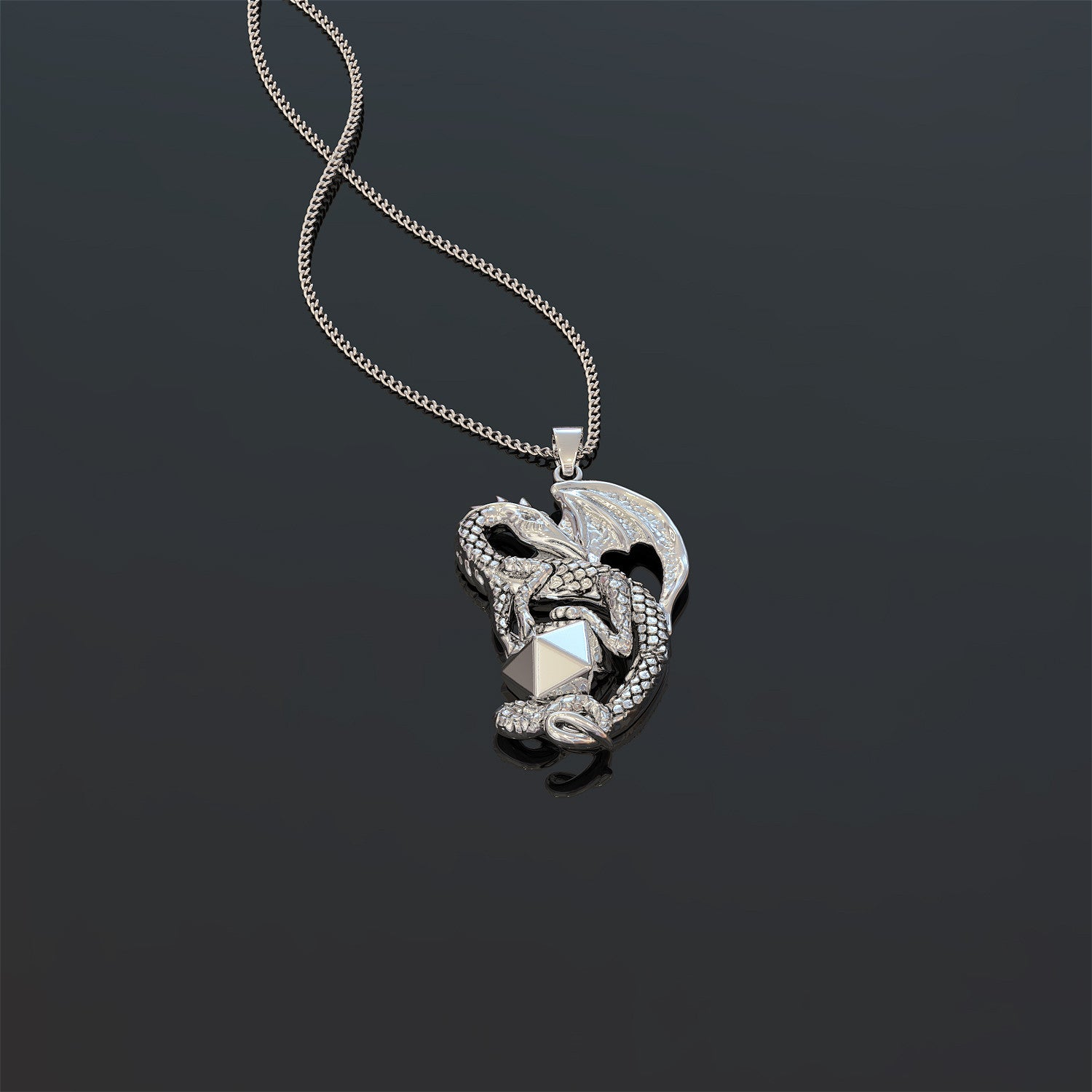 Dice Dragon Necklace
