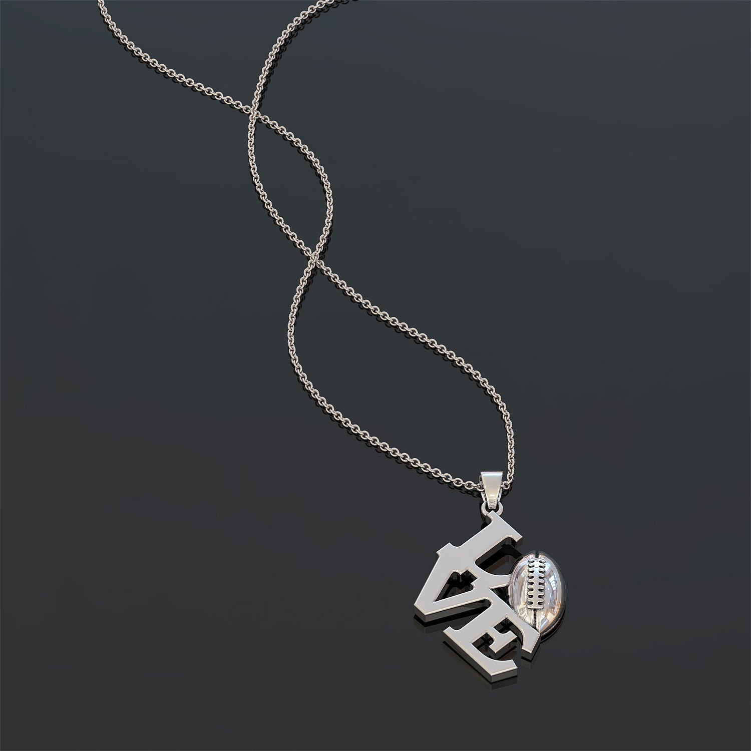Football (American) Love II Necklace