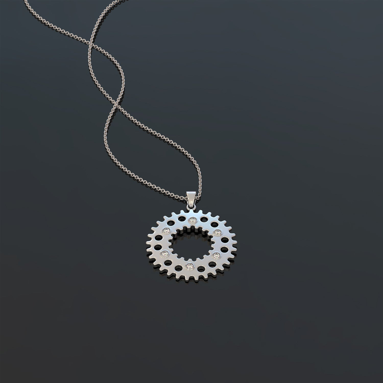 Motorcycle sprocket necklace