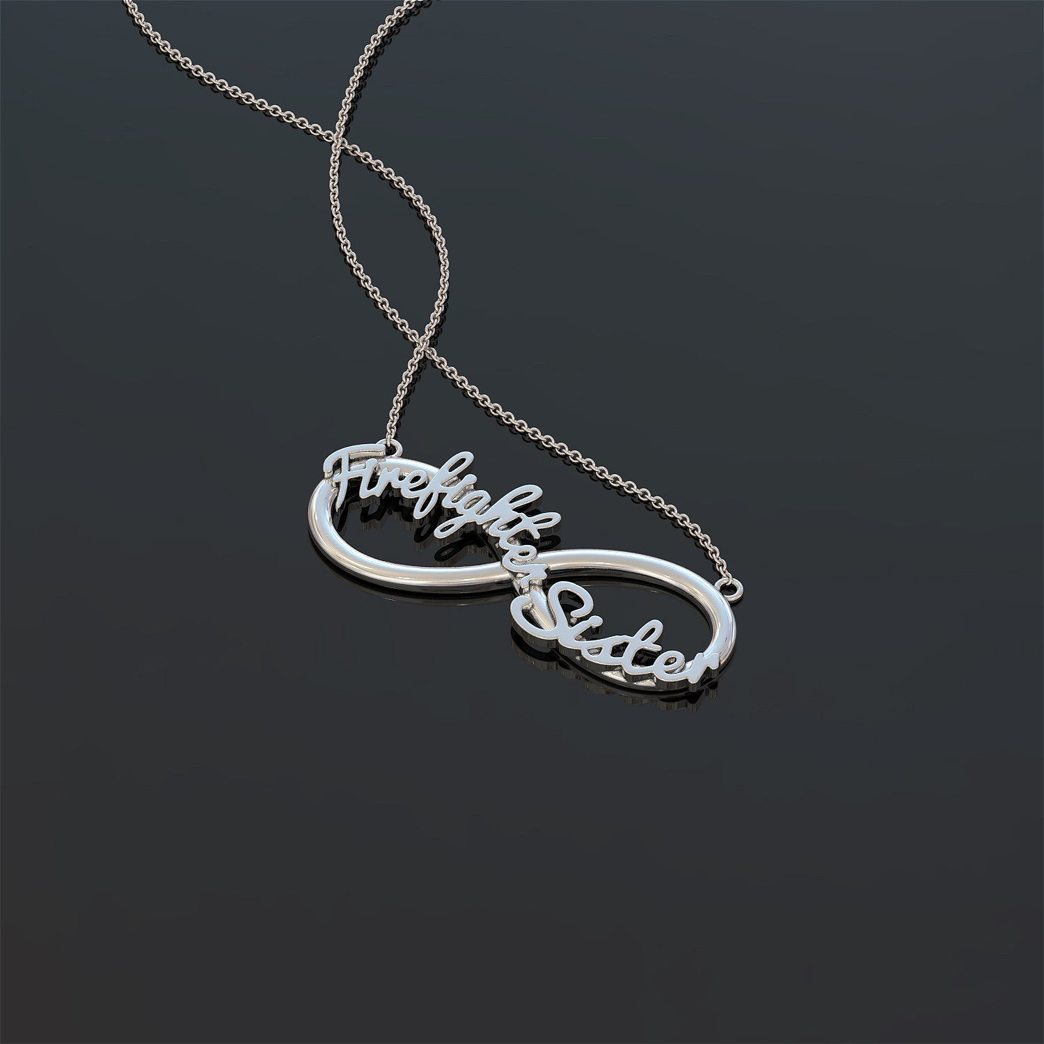 Firefighter Sister Necklace