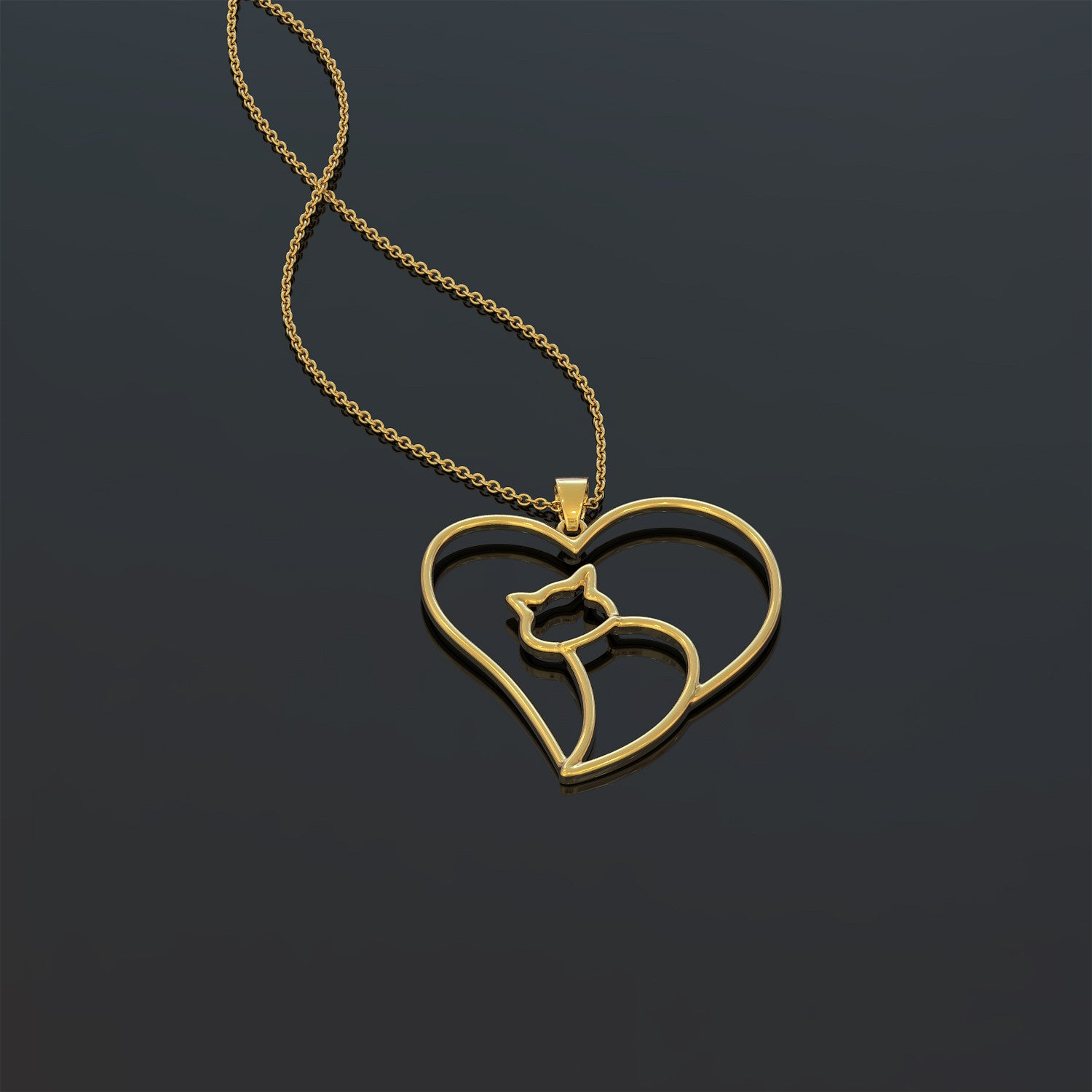 Love Cat Necklace