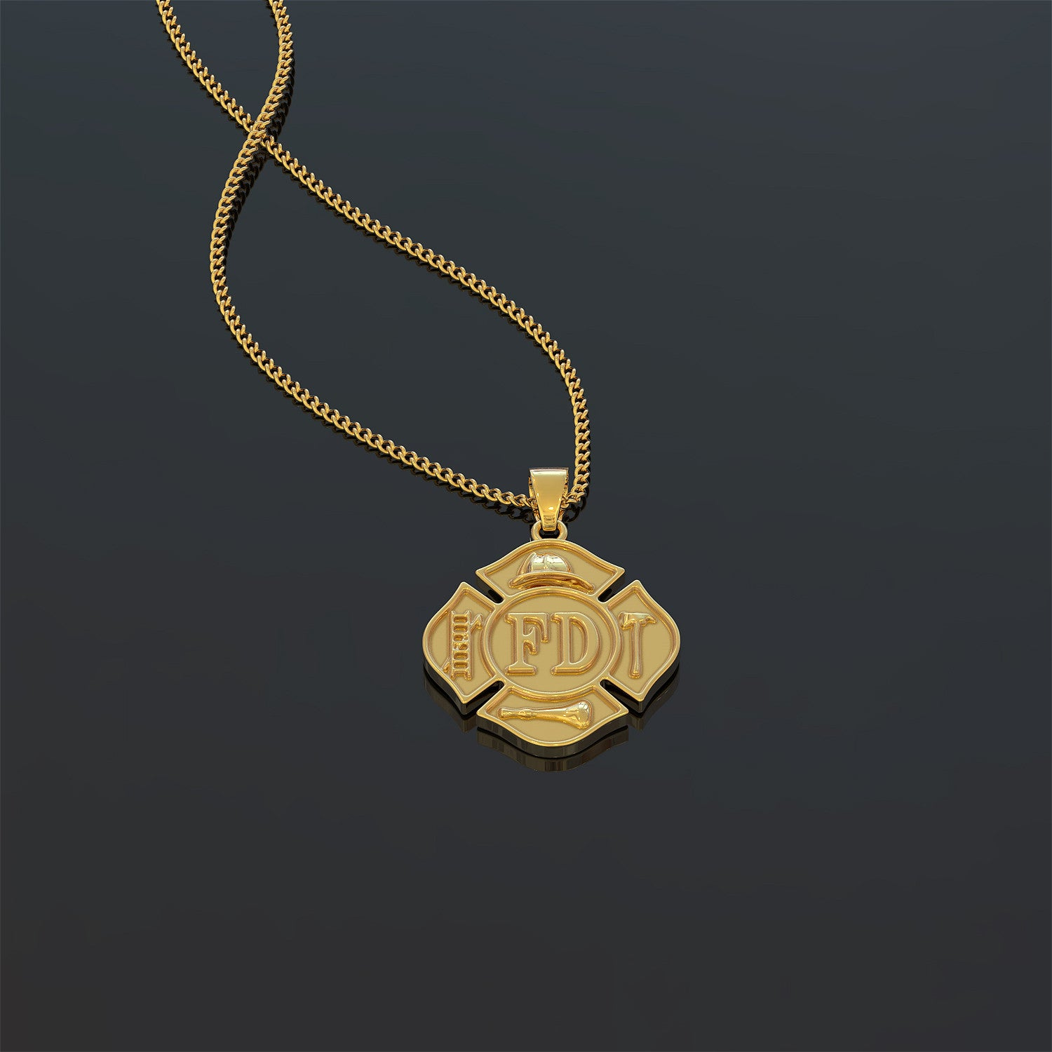 Firefighter Couple Necklace (For Him)
