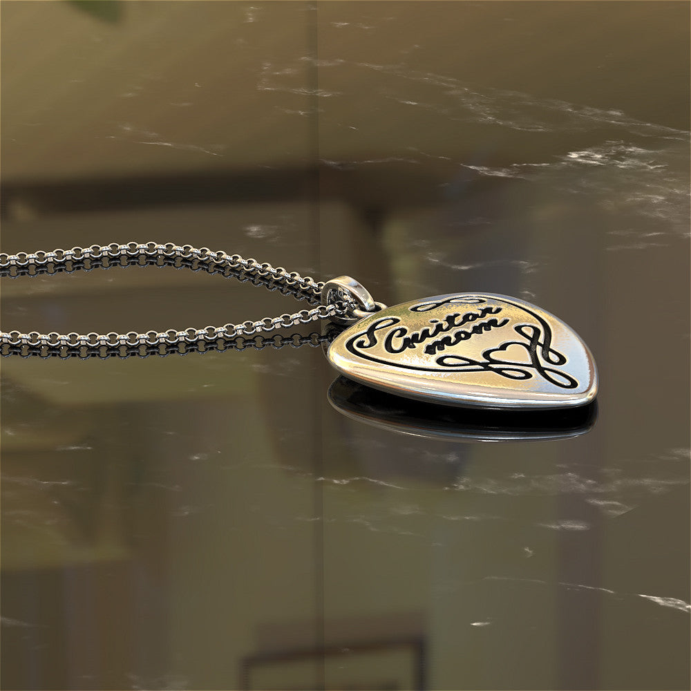 Guitar Mom Necklace