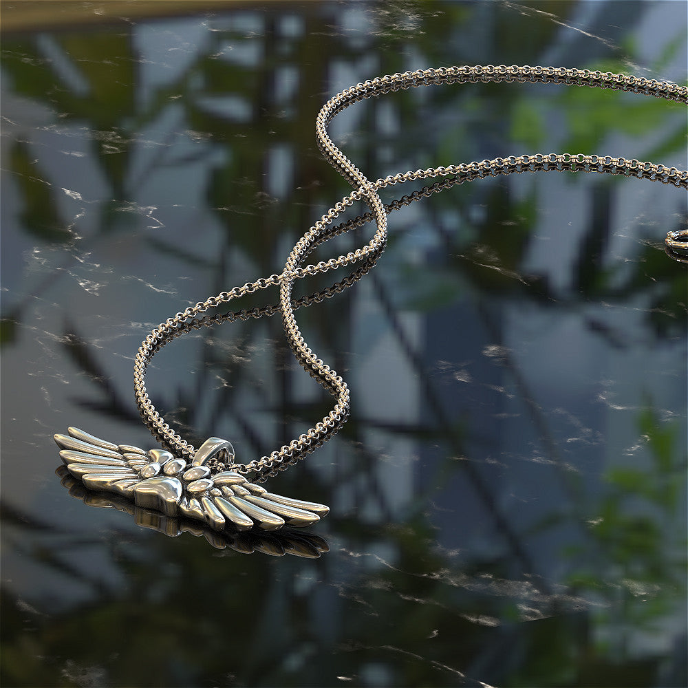 Dog Heart Wings Pendant