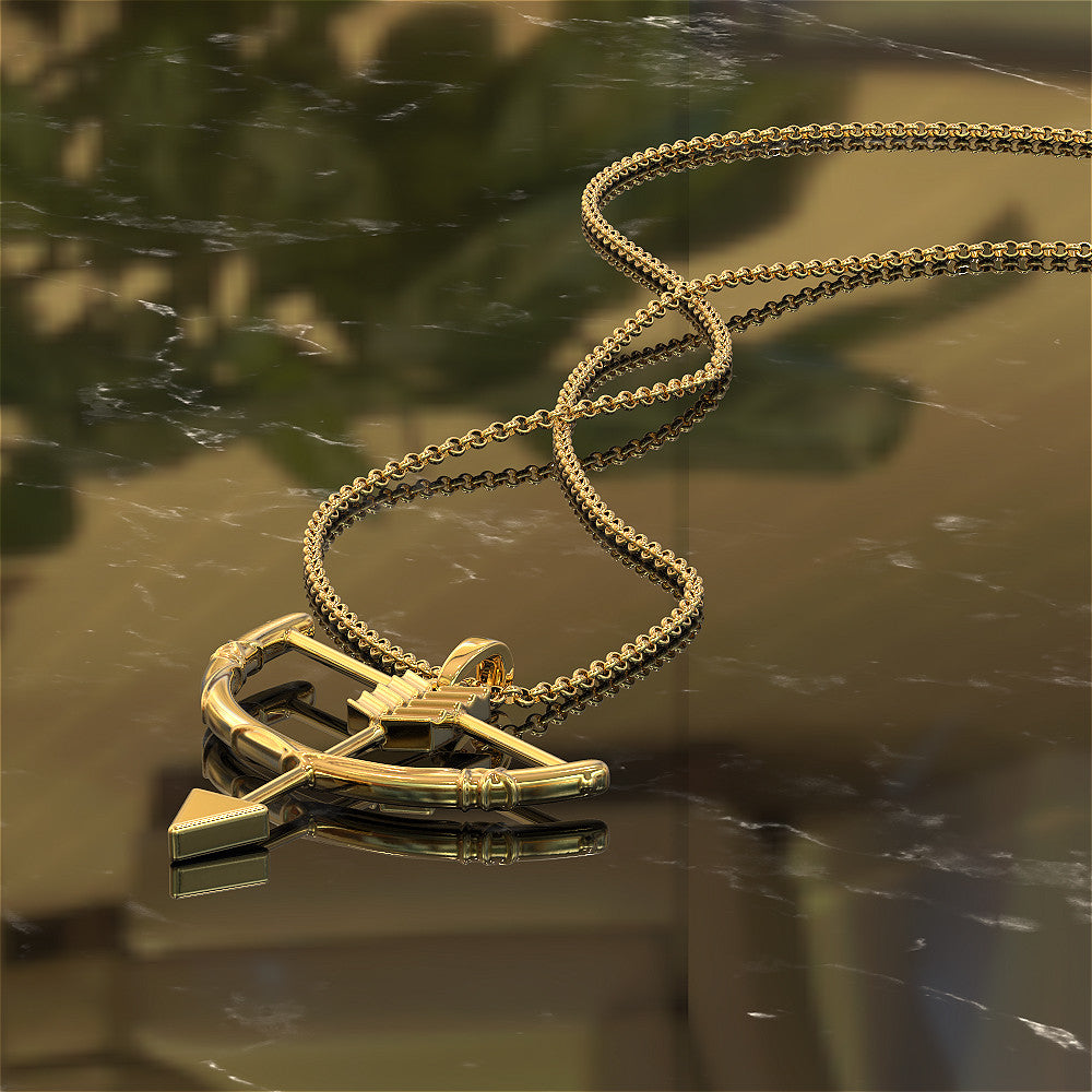 Statement Bow and Arrow - Necklace