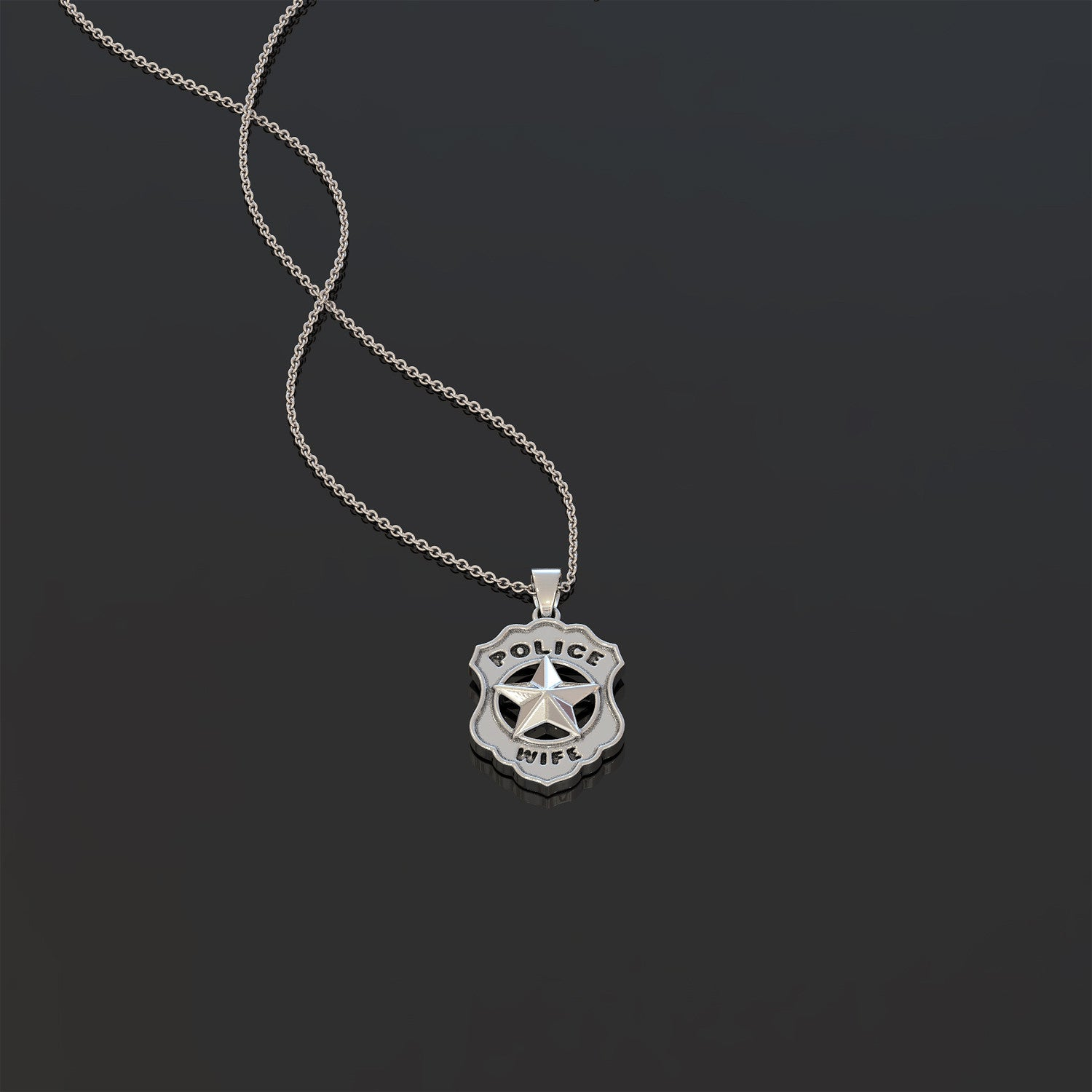Police Wife Pendant Necklace