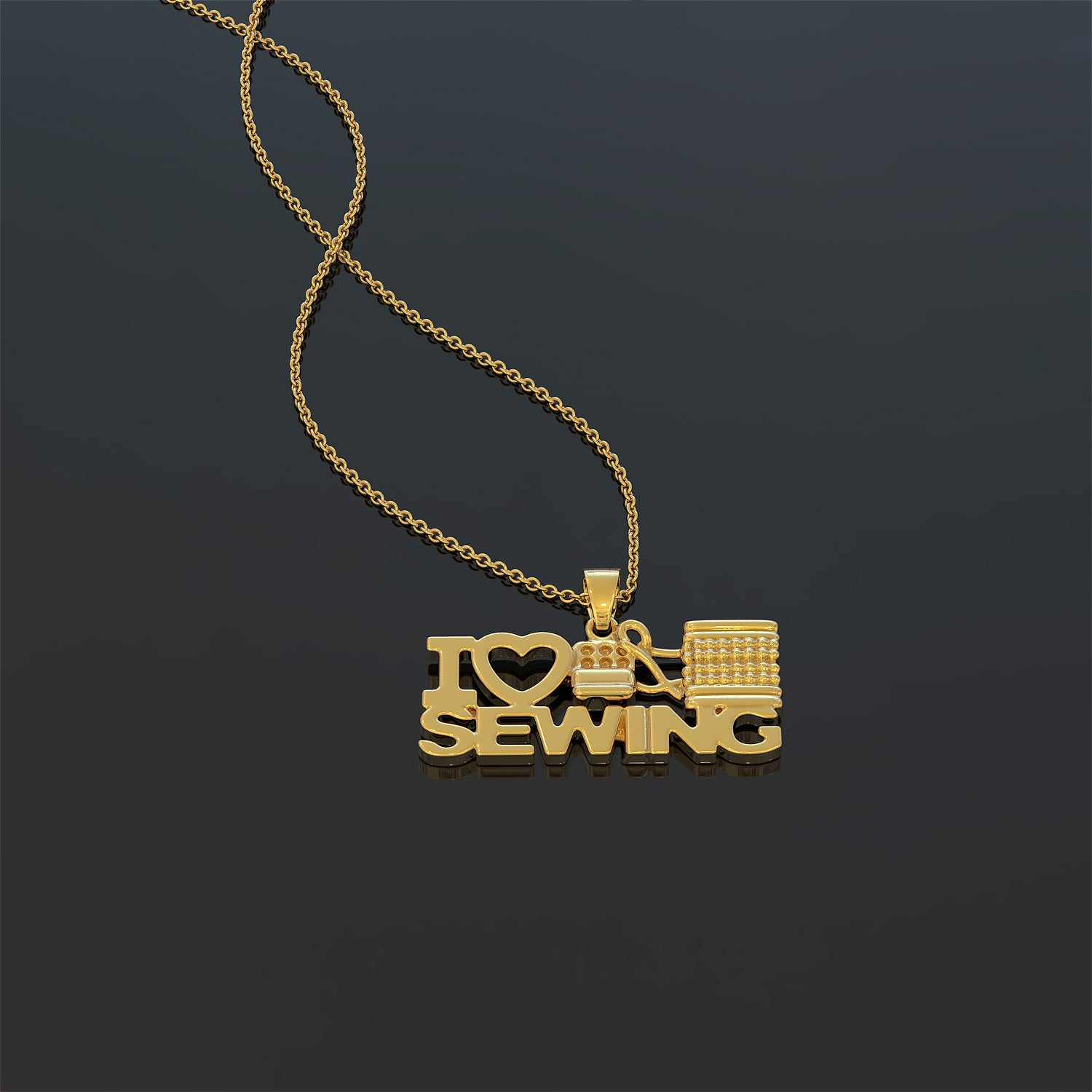 I Heart Sewing Necklace - LIMITED EDITION