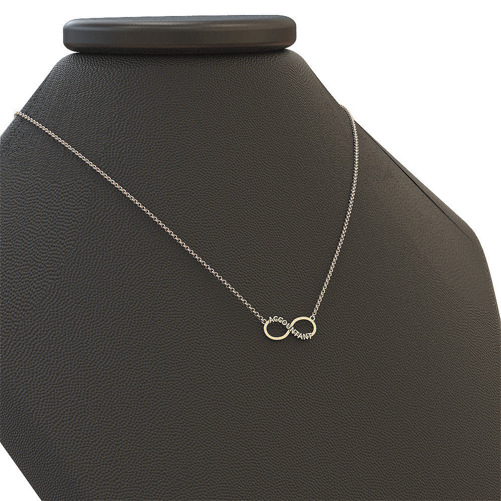 Accountant Infinity Necklace