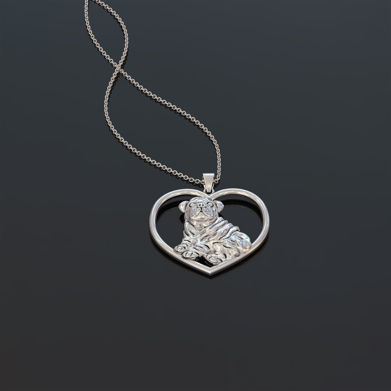 Bully Heart Necklace