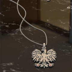 Polish Coat of Arms Necklace with Birthstones