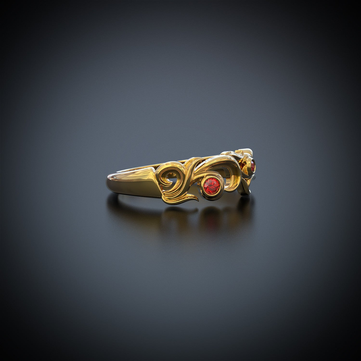 Fire and Skull Ring